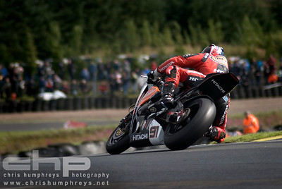 Leon Haslam at Knockhill, Scotland. 2008 British Superbike Championship