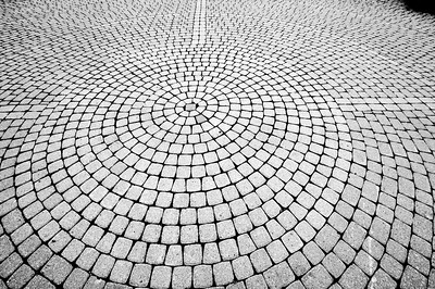 After a while we made it to the falls - this was a pattern of bricks in the walkway that I found interesting. Please bear with me during this artistic interlude...