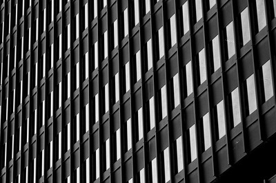 Building detail, downtown Montreal, Quebec, Canada.