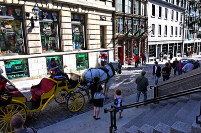 Street scene outside Notre Dame Cathedral. There was so much construction in front of the cathedral that it was impossible to get a good photo of it - but I have some of those laying about somewhere, anyway!