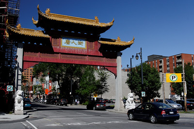 The gate to Chinatown in Montreal.