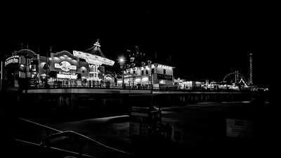 Historic Pleasure Pier on Galveston Island, Texas
