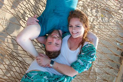 Hammock portrait on the beach