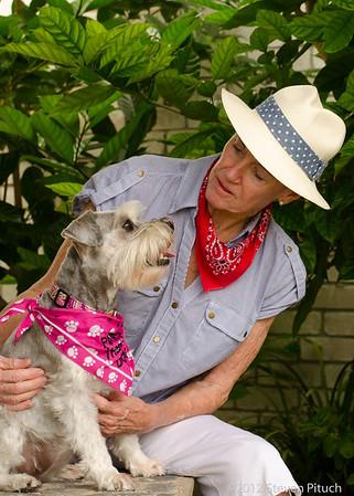 8/29/2012 - Sandra Pratt and her dog Nurse Angel (Therapy Dog).
