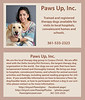 Paws Up Inc business card catalog cut
