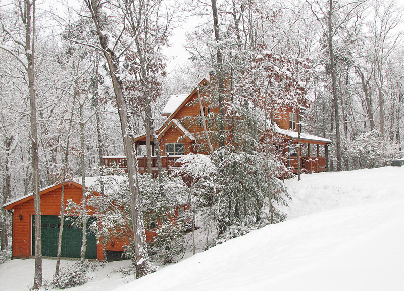 Our snow covered house the day after Christmas