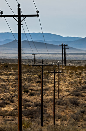 TX 90 West Power Poles