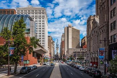 South Broad Street, Looking North, Philadelphia, Pennsylvania