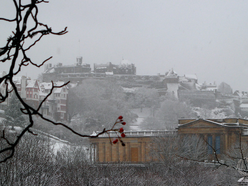Winter 2010: the National Galleries and the Castle in the snow