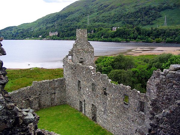 View from the tower, towards Lochawe village