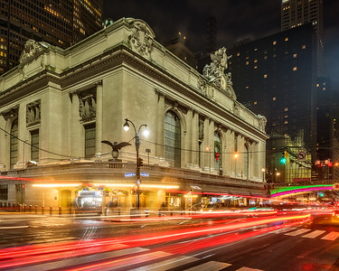 Friday evening, outside Grand Central Station.