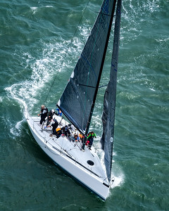 Sail boat racing at The Golden Gate Bridge, San Francisco, California - 02