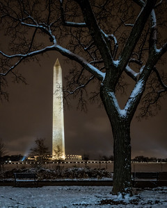 December Evening At The Washington Monument, Washington, DC