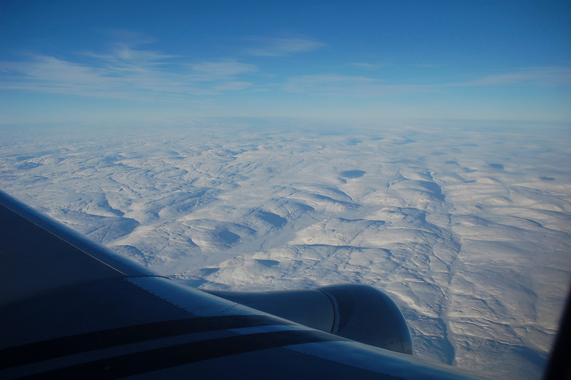 View of Baffin Island as the First Air flight approached Iqaluit