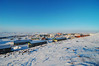 Overlooking Iqaluit from the hill on the eastern side of town.