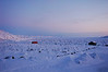 An Iqaluit cemetery sits at the edge of Frobisher Bay