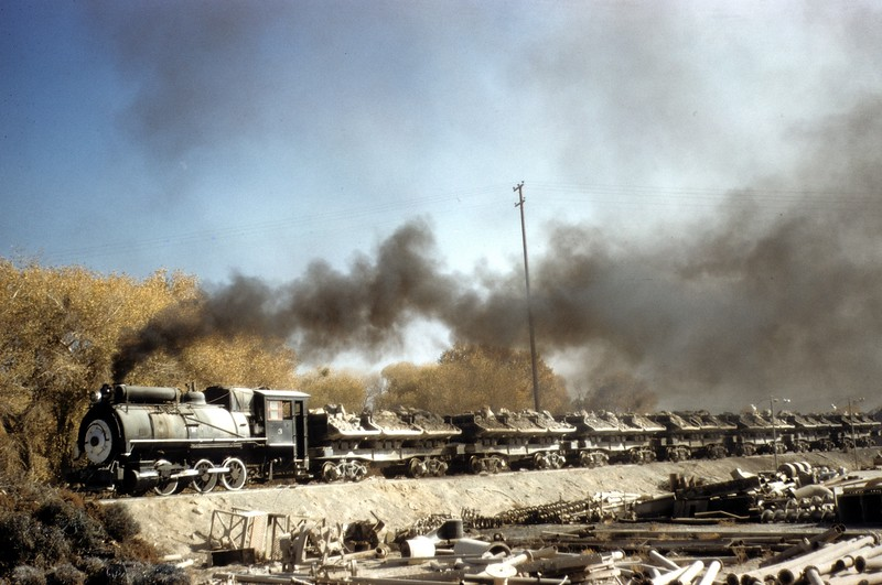Mojave Northern number 3 at the Southwest Portand Cement Company crushing plant at Leon during December of 1958. MN #3 is preserved by the Pacific Southwest Railway Museum and is on diaplay in La Mesa, CA.<br /> <br /> Photographer Harold F Stewart