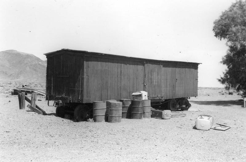 Abandoned Tonopah & tidewater boxcar at Baker.<br /> <br /> Ray Ballash Photographer