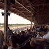 Panoramic view of Saratoga's race courses from the pavilion
