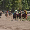 Rounding the top of the stretch in the 2nd race