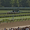 Out of the gate on the inner turf course in the 7th race