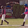 Jockeys Jermaine Bridgmohan and Rajiv Maragh entering the paddock to mount their horses