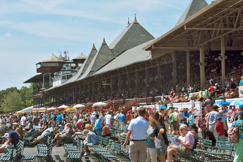 Saratoga's main pavilion from trackside