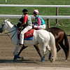 Handler with Carson Hall and jockey Ramon Dominquez, 1st race