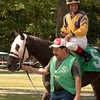 Edgar Prado aboard Buddy's Dream being walked in the paddock