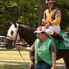 Edgar Prado aboard Buddy's Dream being walked in the paddock