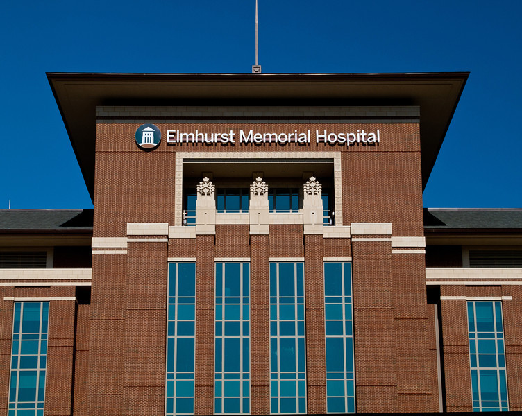The new (Summer, 2011) Elmhurst Memorial Hospital, in the Prarie School style of Frank Lloyd Wright.