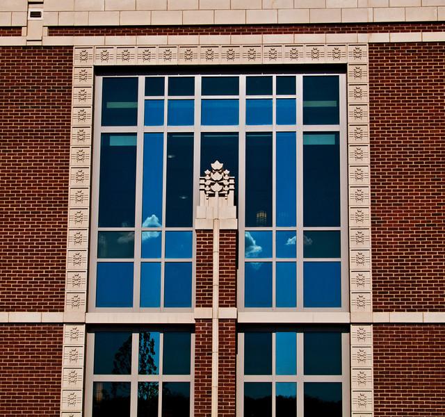 The new (Summer, 2011) Elmhurst Memorial Hospital, in the Prarie School style of Frank Lloyd Wright.