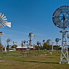 Mid-America Windmill Museum: a view of many of the more than 50 windmills at the museum.