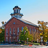 The Steuben County Courthouse in Angola, Indiana.  It is a replica of Faneuil Hall in Boston, and was built in 1868.