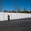 The memorial wall contains inscriptions of the names of the crew and passengers on Flight 93.