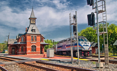 The Point Of Rocks Train Station with today's MARC train (the locomotive is a MotivePower Industries MP36)