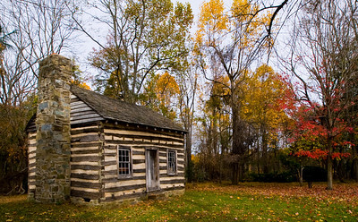 Grusendorf Log House, built in 1855 by one of the original German immigrants to the Washington, DC, area.