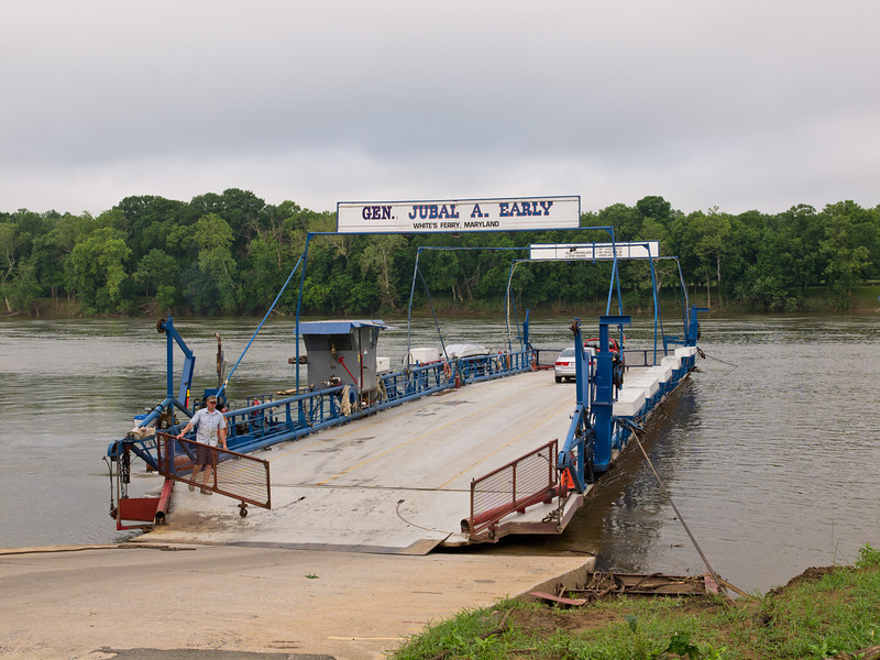 The business began about 1828 at a site known as Conrad's Ferry.  In 1920, ferry owner Charles Ashby Williams put a Model T gasoline engine in a rowboat beside a new skiff he had built in 1919.  This photo shows the current 24-car ferry (three rows of 8 cars).