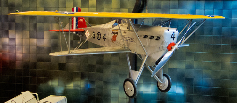 A Boeing FB-5, the Navy version of the Boeing Model 15.  It was the first carrier-based fighter in the US Navy, and started service in January, 1927.