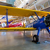 A Boeing-Stearman biplane trainer.  The civilian version was called the Kaydet, the military version was the PT-13D.  This PT-13D was used to train the Tuskegee Airmen and was named the Spirit of Tuskegee.