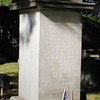 Close up of Wayne's monument, as seen on findagrave.com