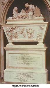 Andre's monument in Poet's Corner