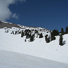 view of the ridge we skied over