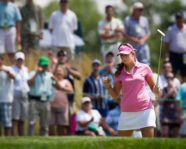 Paula Creamer saves par on the 6th hole in the US Women's Open at Oakmont Country Club 7.11.2010 (EquiSport Photos)