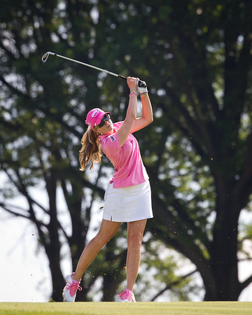 Paula Creamer plays to the 14th hole in the US Women's Open at Oakmont Country Club 7.11.2010 (EquiSport Photos)