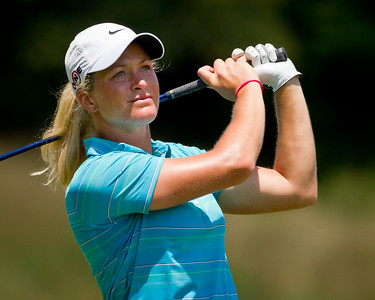 Suzann Petterson hits her tee shot on the 7th hole in the US Women's Open at Oakmont Country Club 7.11.2010 (EquiSport Photos)
