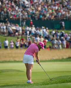 Paula Creamer plays to the 14th green in the US Women's Open at Oakmont Country Club 7.11.2010 (EquiSport Photos)