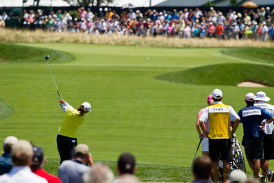 Amy Yang hits her tee shot on the 2nd hole in the US Women's Open at Oakmont Country Club 7.11.2010 (EquiSport Photos)