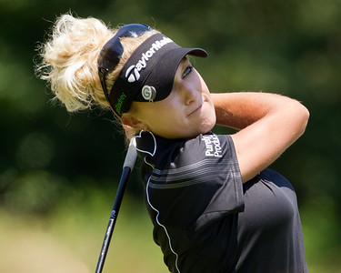 Natalie Gulbis hits her tee shot on the 7th hole in the US Women's Open at Oakmont Country Club 7.11.2010 (EquiSport Photos)