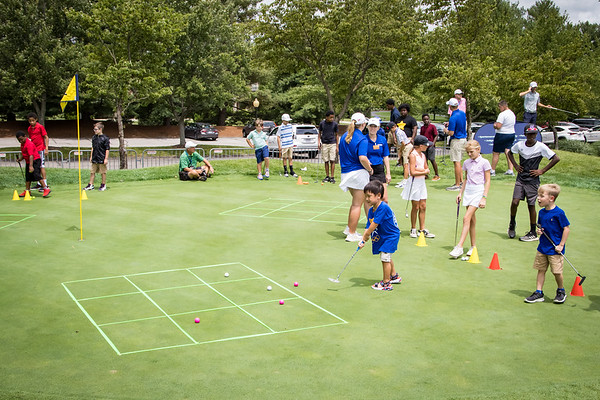 Tic Tac Toe with golf balls at the First Tee Clinic